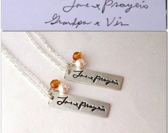 Signature necklace, personalized necklace, signature jewelry, handwritten jewelry, memorial necklace, signature necklace, memorial jewlery