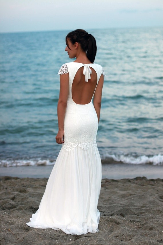 Bohemian Wedding Dress Beach Lace