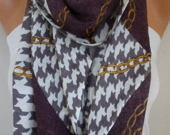Purple Scarf Christmas Gift Fall Winter Accessories Oversized Wrap Shawl Cowl Gift Ideas For Her Women's Fashion Accessories Scarves