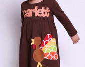 Thanksgiving Dress - Personalized Turkey Dress