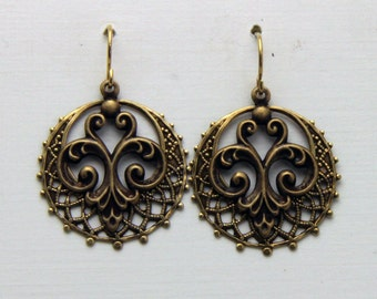 Filigree Brass  Earrings