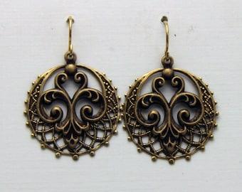 Filigree Brass  Earrings