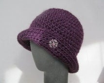 Crochet Pattern Cloche Hat PDF Pattern No 40 Permission To Sell Finished Items, 10 Patterns for 10 dollars, coupon code BUYTEN
