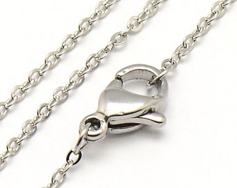"Stainless Steel Necklaces 18"" - Fine chain 1.2mm x 0.2mm - Great Quality- Quantity Options- N111"
