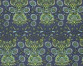 Deer Fabric Tula Pink Moon Shine Fabric Dear Me in Indigo Deer Fabric Quilting Fabric Fabric by the Half Yard Half Yard