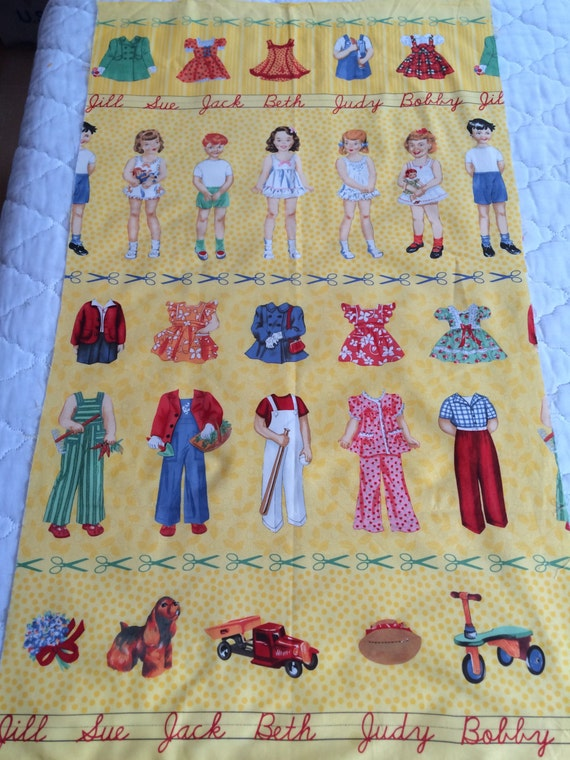 Items similar to fabric moda vintage 50 39 s children school for Childrens quilt fabric