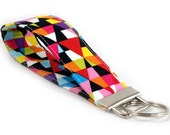 SPECIAL: Buy Three Get One Free > Colorful Triangles - Key Fob Wristlet