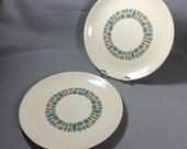 Set of 2 TEMPORAMA Dinner Plates, Canonsburg Pottery
