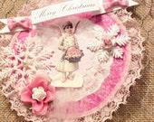 Victorian Christmas Ornament, Angel Ornament, Snowflake Ornament, Flower Ornament, Paper Ornament