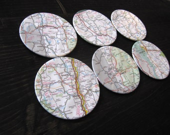 Vermont Vintage Map Coasters (Set of 6)