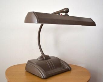 Art Deco Gooseneck Desk Lamp