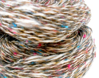 3 Skeins of Tweed Look Yarn, Mystery yarn, Cotton Acrylic yarn, Knitting Supplies, 2 ply, Y138