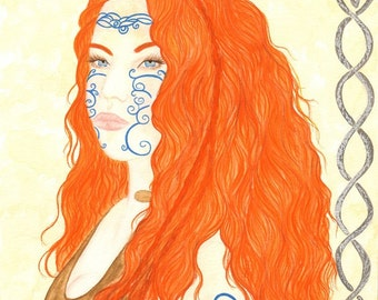 Boudicea/Boudicca Original Celtic Warrior Queen painting