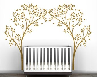 Gold Tree Canopy Portal Wall Decal