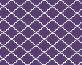 Grape Purple Quatrefoil Fabric