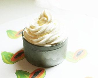 Papaya Whipped Soap - Scented Soap - Homemade Soap - Vegan Soap - Glycerin Soap - Cream Soap
