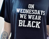 On Wednesday We Wear Black Cool T-Shirt All Sizes