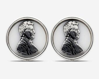 Sterling Silver Abraham Lincoln Cufflinks