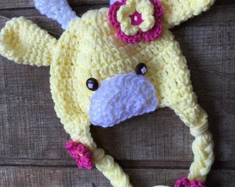 Giraffe Hat, Crochet Giraffe Hat, Giraffe Baby Hat