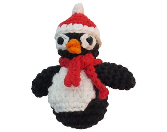 Christmas Penguin Catnip Cat Toy -  With or Without Scarf