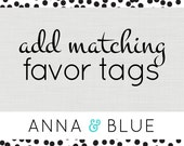 Party Favor Printable Tags - DIY Favor Tags by anna and blue