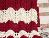 Classic Cable Chevron Afghan Textured Crochet Pattern