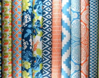 Fat Quarter Bundle - FLORA - Eucalyptus Palette - Joel Dewberry for Free Spirit Fabric - 12 FQs