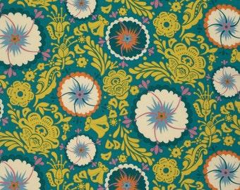 Fortune in Sea PWAH087.SEA - FOLK SONG by Anna Maria Horner - Free Spirit Fabric  - 1 Yard