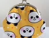 Free Shipping - Handmade Coin Purse Big Big Panda in Yellow