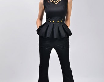 Gina Blouse with flared trousers