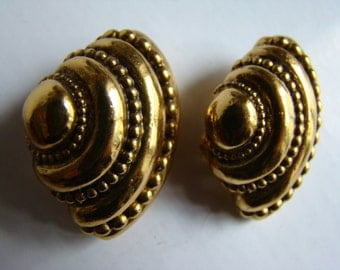 Jean-Louis Scherrer Shell  Earrings