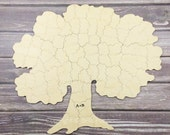 100 pc Wedding Guest Book Puzzle, guestbook alternative, wood TREE puzzle guest book, Bella Puzzles™. Rustic barn bohemian wedding.