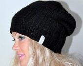 Black Beanie The Street Beanie Slouchy Women Hat Trendy Knit Hat Winter Mens Hat CHOOSE COLOR Black Christmas Gift
