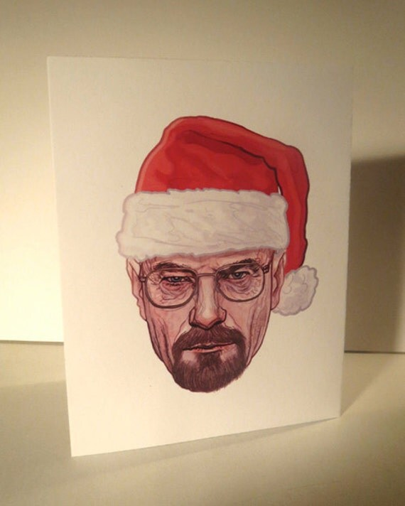 Sled Lightly Breaking Bad Christmas Card