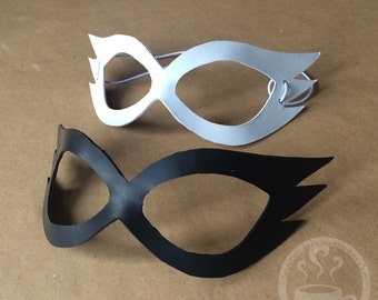Accented Domino Mask - handmade leather mask SailorMoon anime manga superhero cosplay bird jester