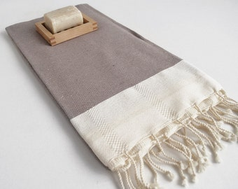 SALE 50 OFF/ Turkish Beach Bath Towel Peshtemal / Soil Color / Wedding Gift, Spa, Swim, Pool Towels and Pareo