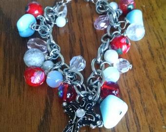 Cherry Blossoms Charm Bracelet