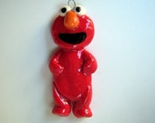 Elmo handmade bread dough ornament by Judy Caron