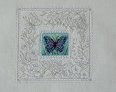 Butterfly Portrait Cross Stitched Picture
