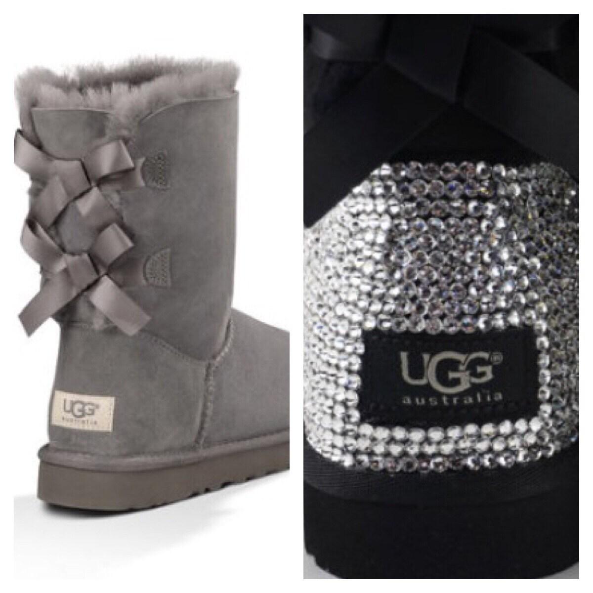 custom ugg boots made with swarovski bailey bow free