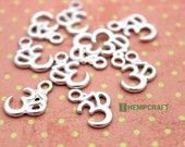 Om Charms, 10pc Tibetan Style Silver Om Charm, 11x16mm