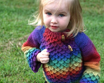 CROCHET PATTERN: Crocodile Stitch Mandarin Coat - Permission to Sell Finished Product