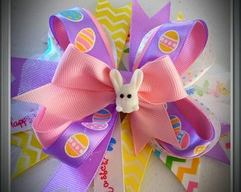 Easter Bunny Layered Hairbow