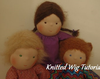 Waldorf Doll Knitted Wig Tutorial
