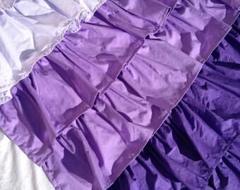 NEW! Custom Made Purple Ombre Ruffle Curtains