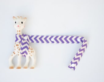 Sophie Strap - Purple Zigzag with white snaps