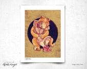 Bear Hug  - 8x11 Print
