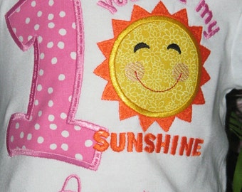 You are My Sunshine T shirt or Bodysuit with Free Personalization