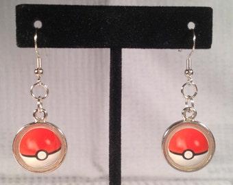 Pokeball Earrings with Resin.