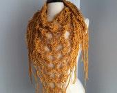 Taryn crochet scarf, 100% cotton